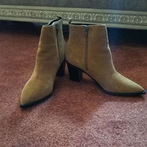 NIB SUEDE ANKLE BOOTS